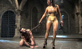 Mistress Mika chained slave